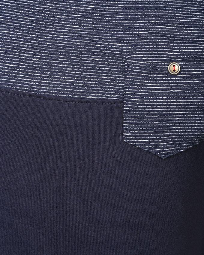 Navy Blue  Cotton T-shirt For Men