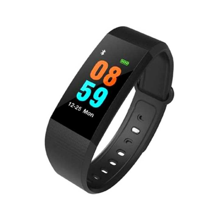 i8 Circle Smart Bracelet Heart Rate Waterproof Call Reminder Pedometer Bluetooth Health Smart Watch - Black and Red