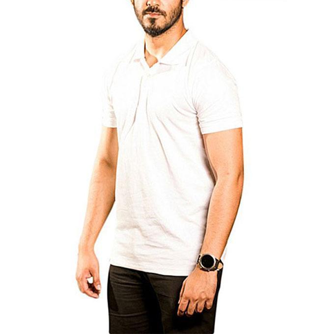 Cotton Short Sleeve Polo - White