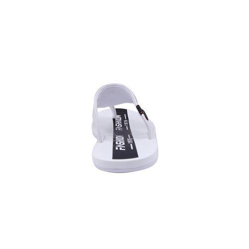 PU Sandal For Men - Black and White