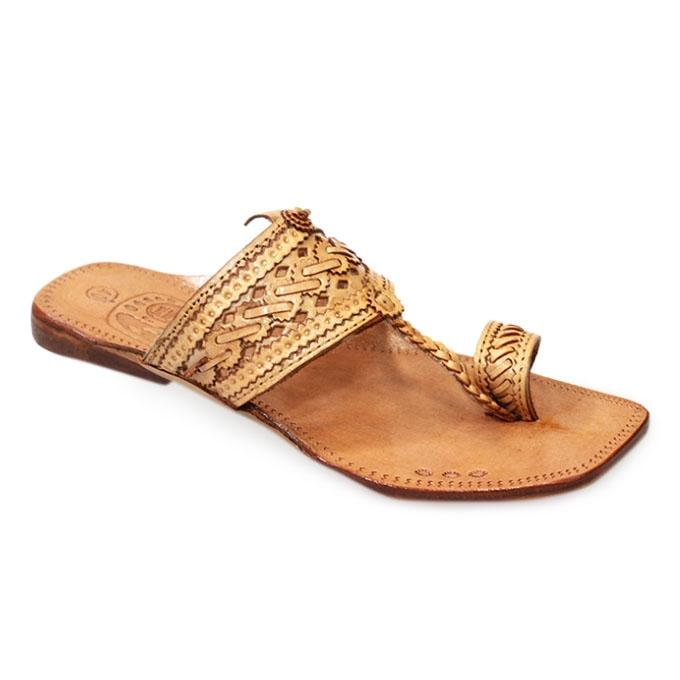 Chocolate Leather Sandal For Men
