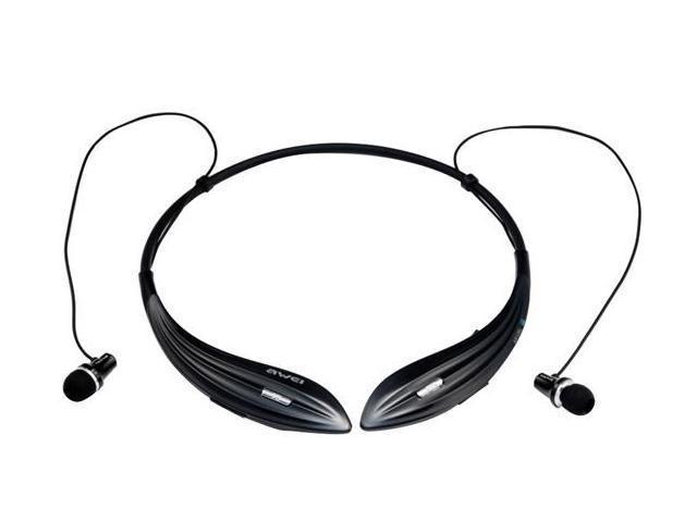 Awei A810BL Sports Bluetooth v4.0 Stereo In-ear Headset with Voice Reminder & Microphone Mute (Black)