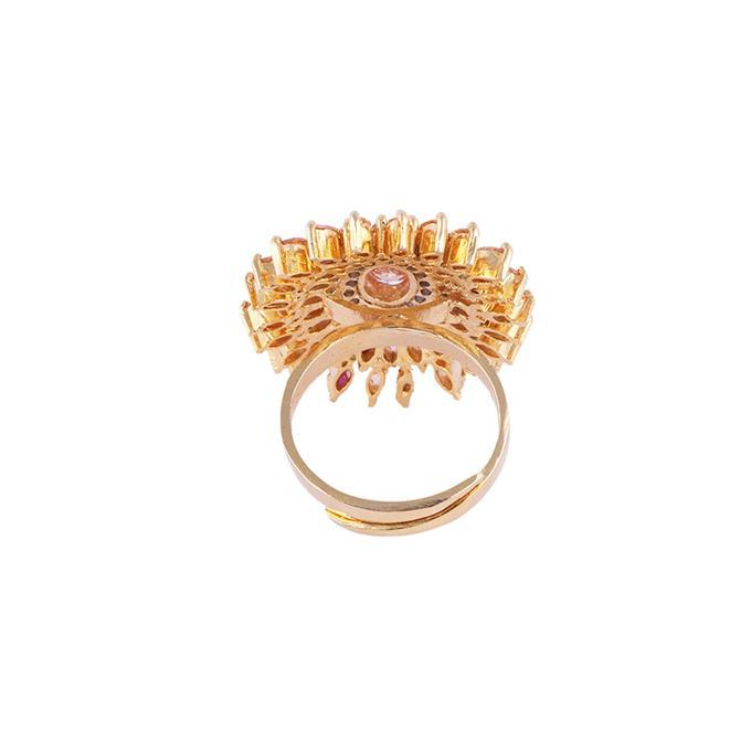 Imitation Finger Ring For Women - Golden and White