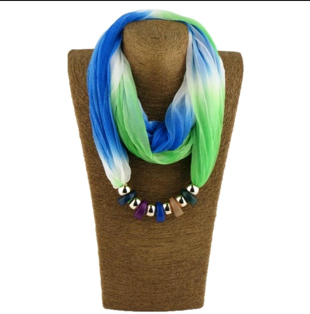 Multi color Scarf Necklace for Women