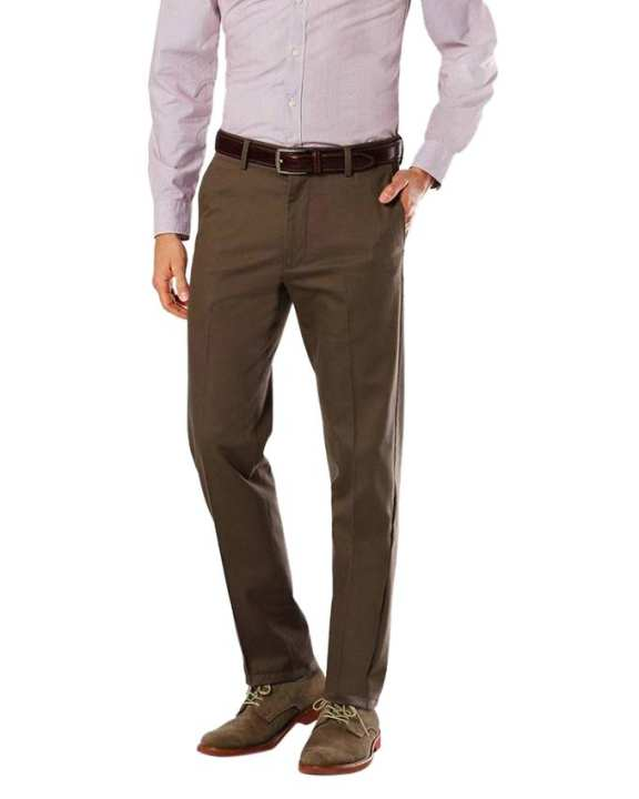 Coffee Twill Casual Pant For Men