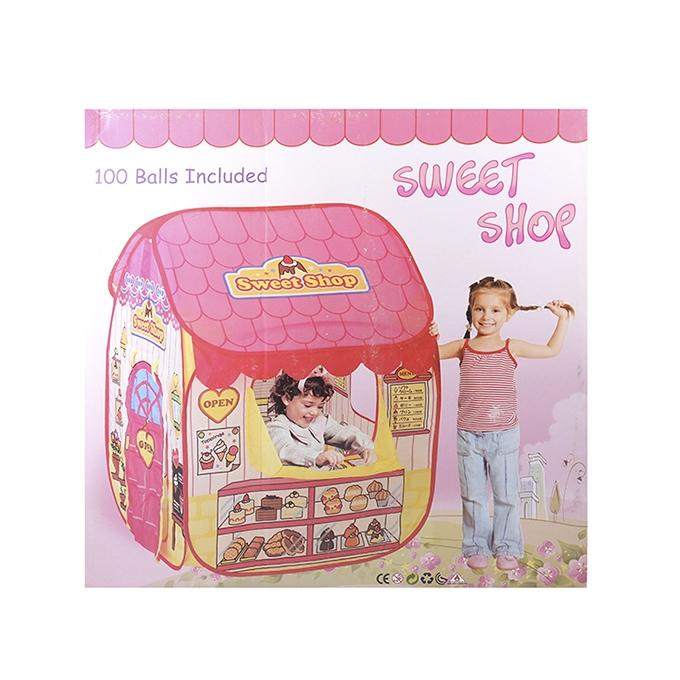 Baby Sweet Shop with 100 Balls For Kids - Pink