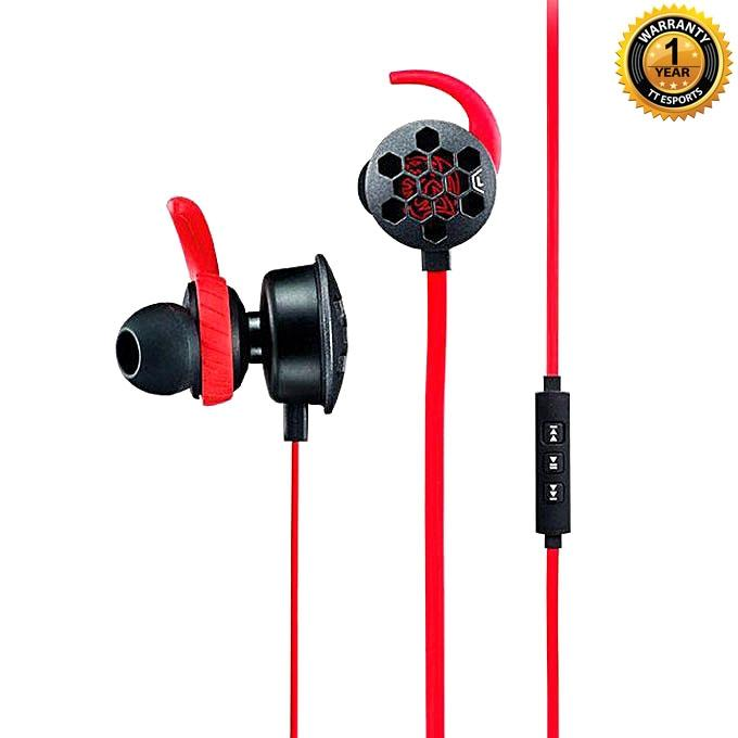 Isurus Pro Gaming Headset - Black & Red