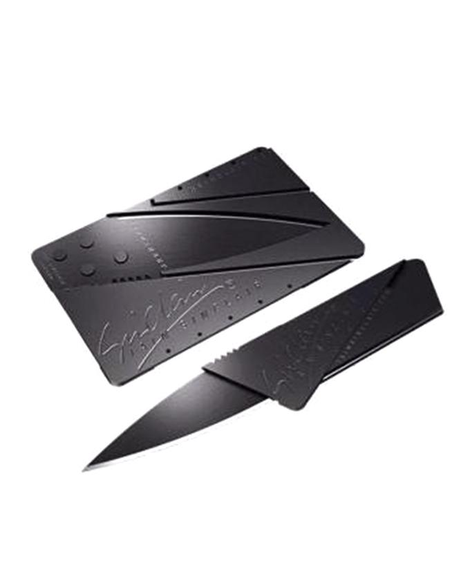 Credit Card Army Folding Knife - Black