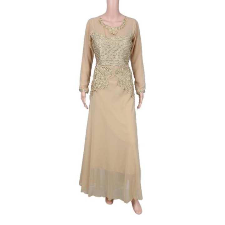 Beige Georgette Gown For Women