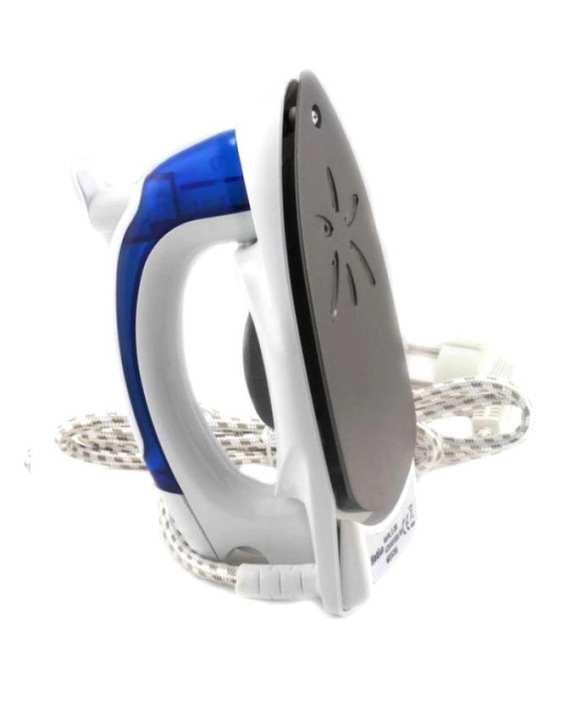 Folding Travel Iron - White And Blue