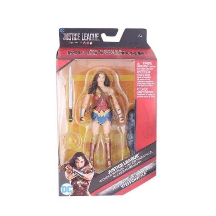 Justice League  Wonder Women Multiverse Action Figure Toy - Blue And Red