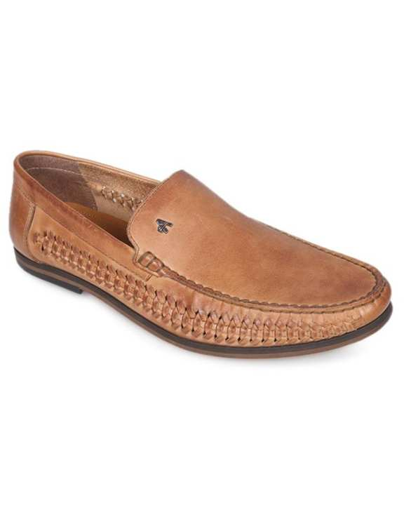 Brown Burnish Leather Casual Loafer for Men