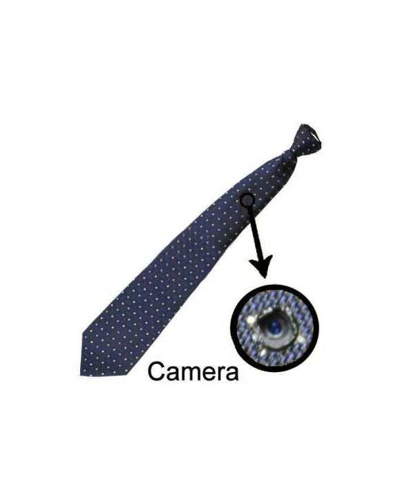 Spy Video Camera Neck Tie - Blue