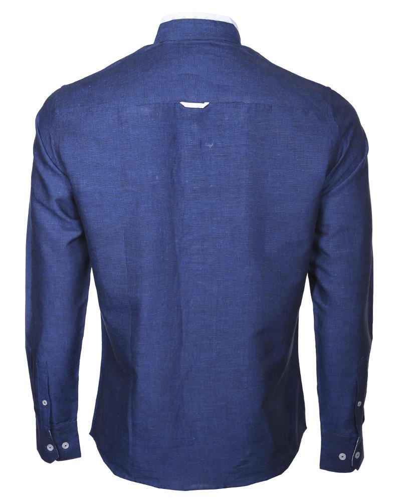 Cotton Casual Shirt - Navy Blue