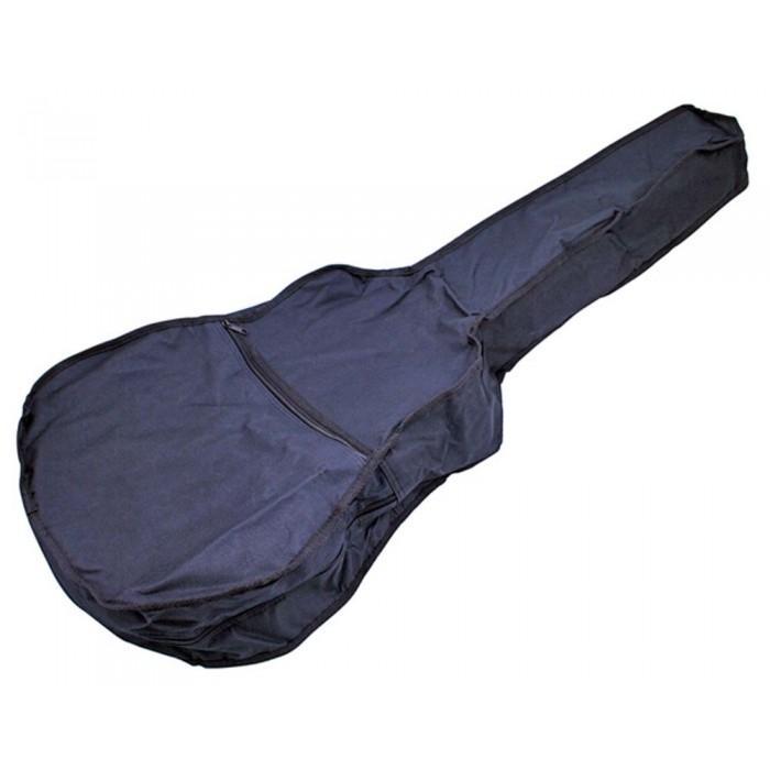 Acoustic Guitar Gig Bag Case Backpack with Zippered Pocket Design - Black