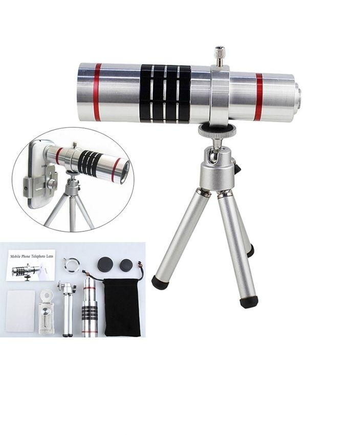 18X Zoom Telescope Camera Lens for Smartphone - Silver