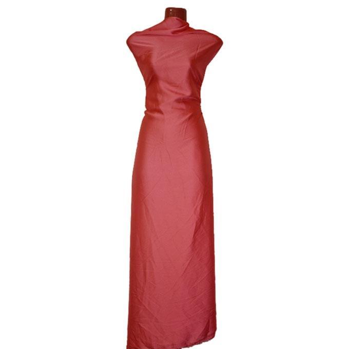 Crimson Chinese Shamu Silk Unstitched Fabric