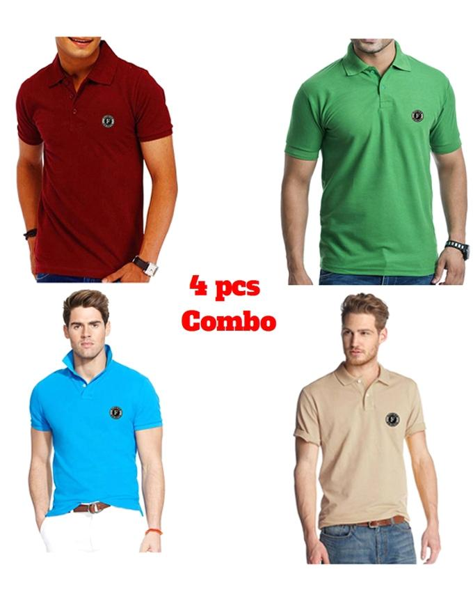 Combo Pack of 4 Polo For Men