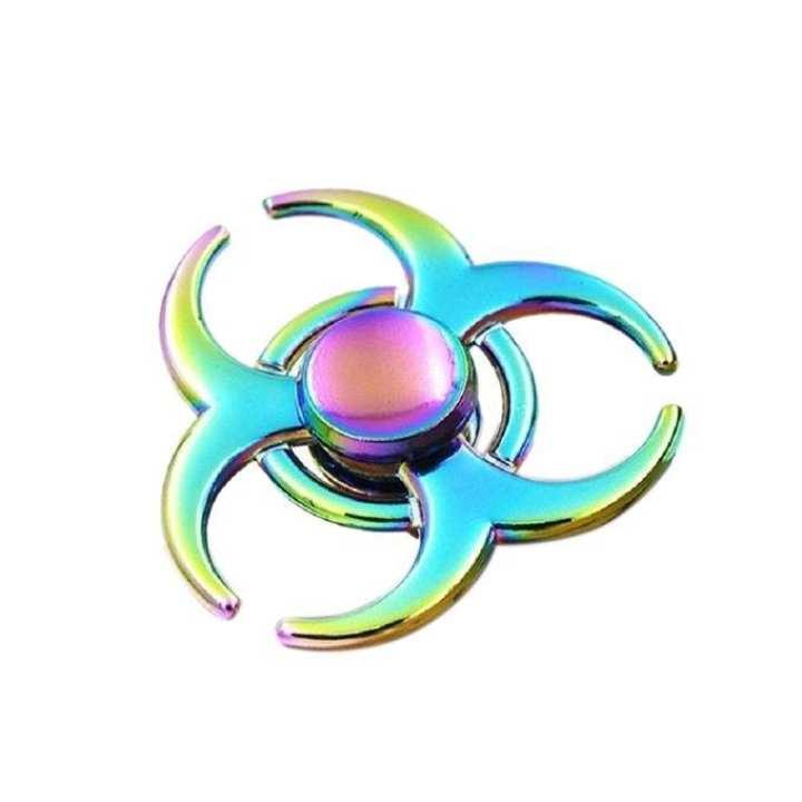 Rainbow Tri Hand Copper Bearings Fidget Spinner - Multi-color