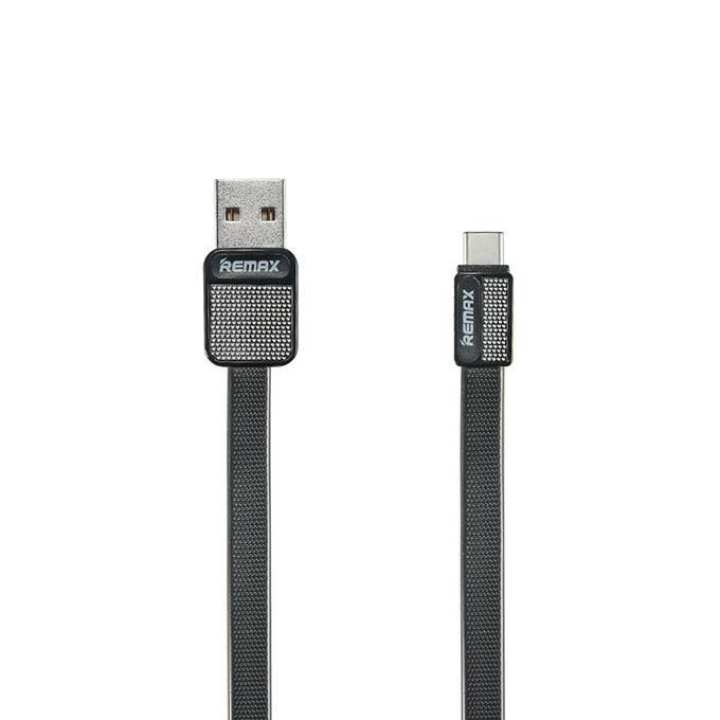 RC-044a Metal Fast Charging Type-C USB Cable for Smartphone - Black
