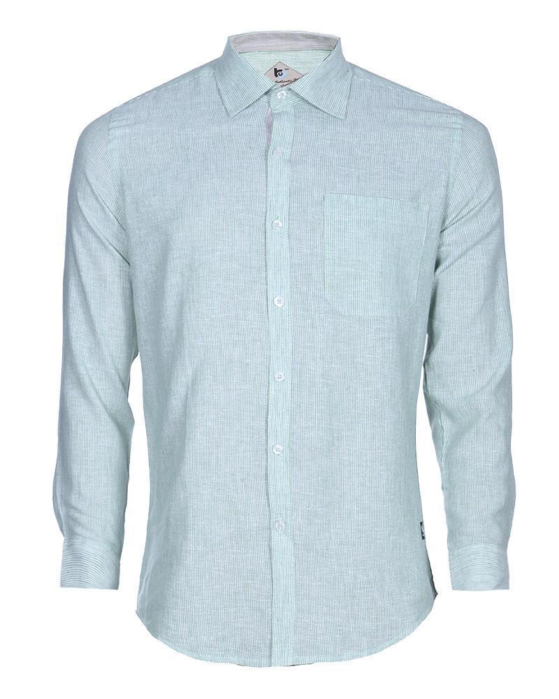 Linen Formal Long Sleeve Shirt - Sky Blue