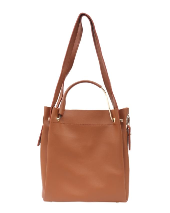 PU Leather Hand Bag For Women - Tan