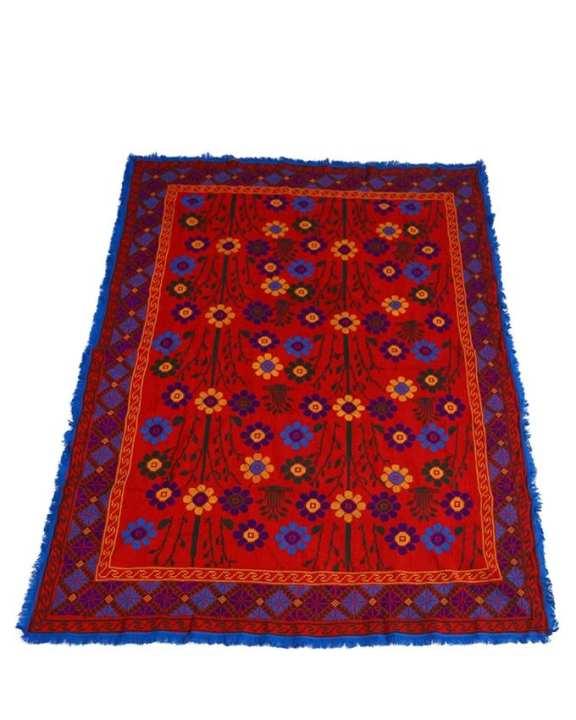 Hand Made Cotton Nakshi Kantha - Red