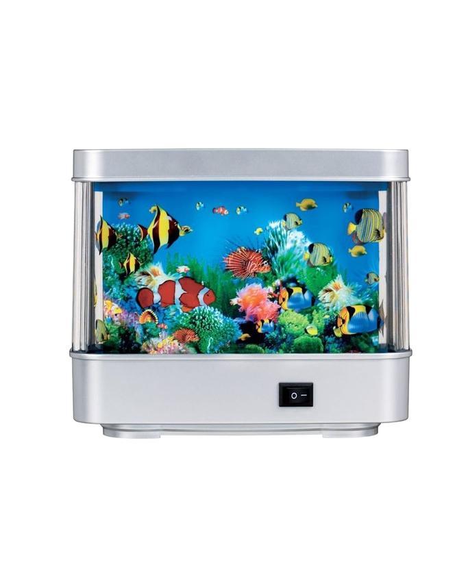Aquarium Lamp Motion Night Light - Silver
