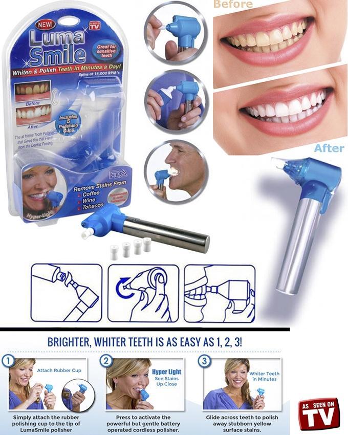 Luma Smile Teeth Polish and Whitening Kit - Blue and Silver