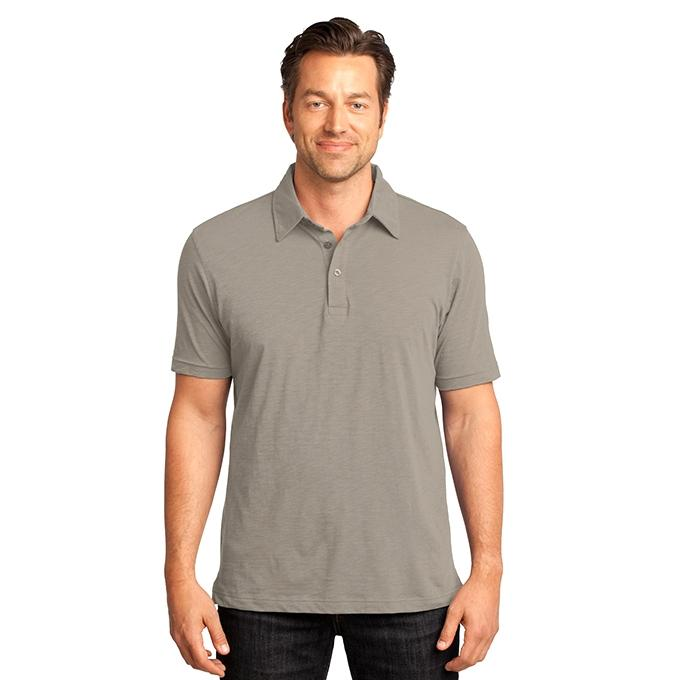 Gray Cotton Polo For Men