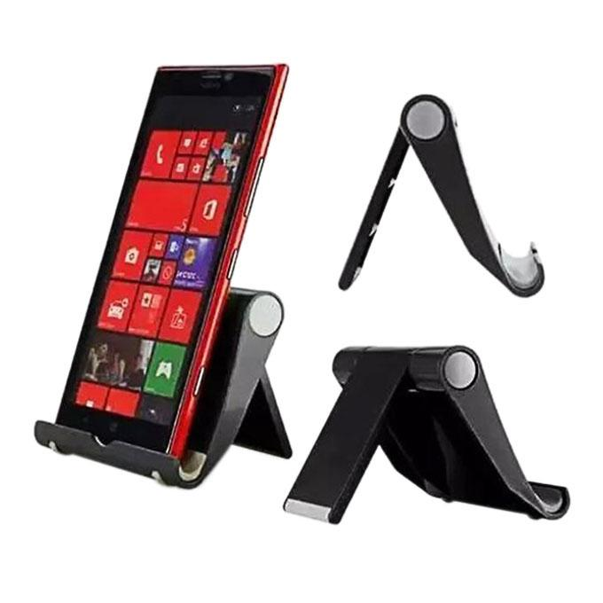 Universal Foldable Mini Stand Stent For Cell Phone - Black