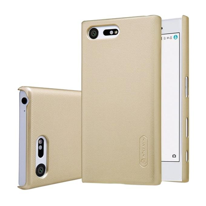 Super Frosted Shield Back Cover for Sony Xperia X - Golden