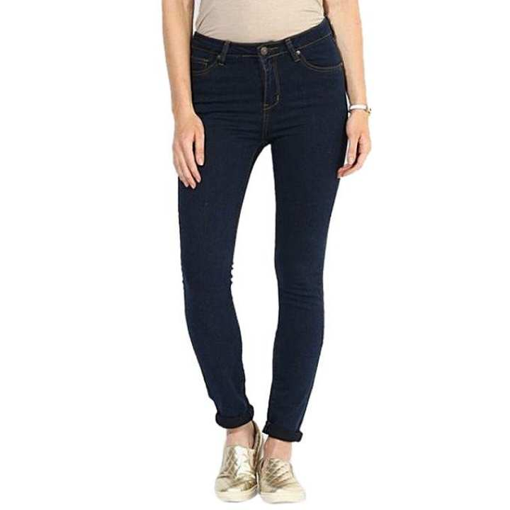 Navy Blue Denim Jeans Pant for Women