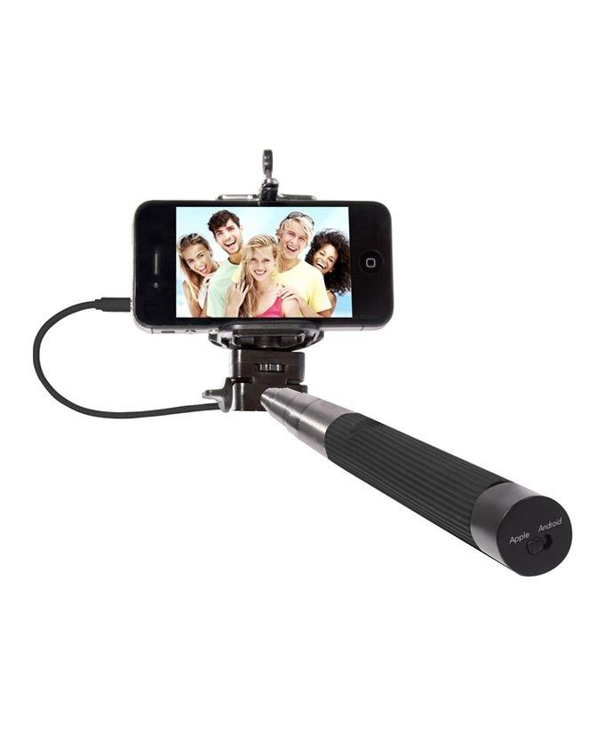 Cable Take Pole - Click Selfie Stick - Black