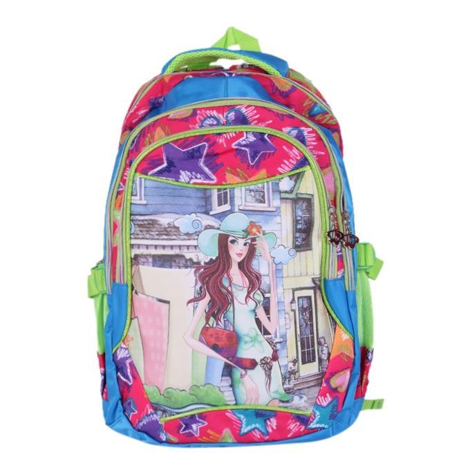 Polyester Backpack - Sky Blue
