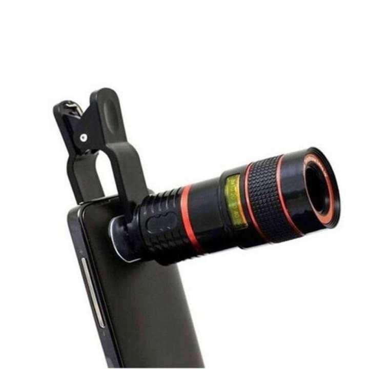 8X Zoom Telephoto Lense - Black