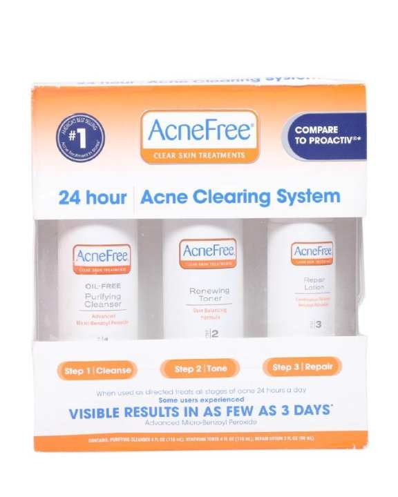 Acne free 24 Hour Acne Clearing System Kit - 118ml