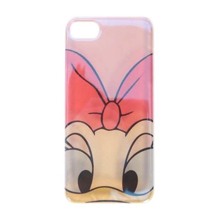 Daisy Duck Back Cover For iPhone 7 and 7 Plus - Red and Yellow