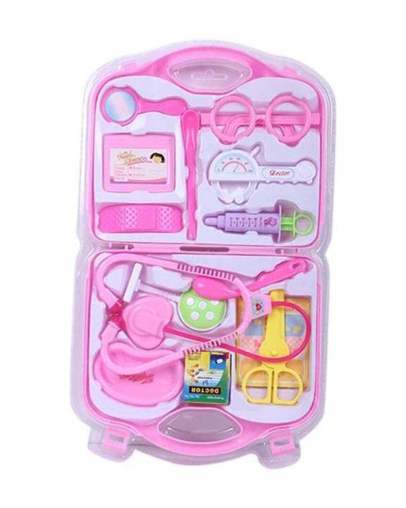 Plastic Doctors Toy Set - Pink