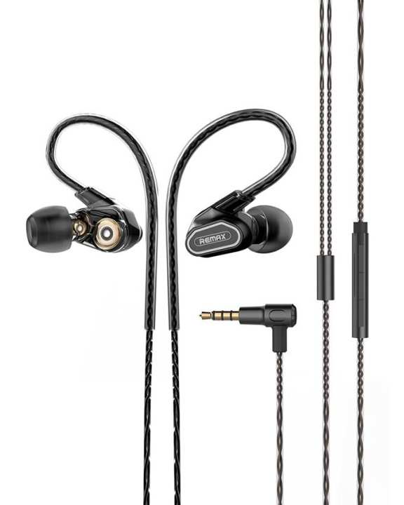 RM-580 Dual Moving Coil Stereo In-Ear Earphone - Black