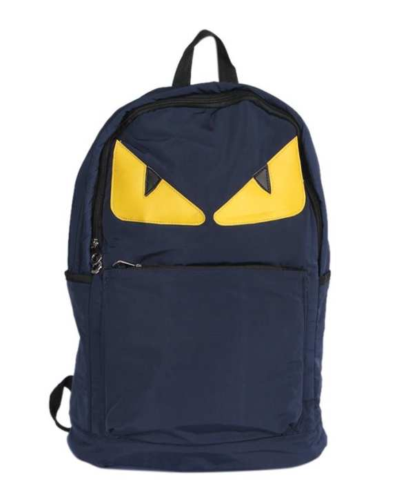 Polystar Backpack For Men - Navy Blue and Yellow