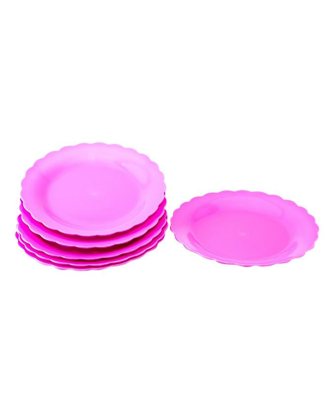 PPS-HN588-3 Snack Plate  - Pink