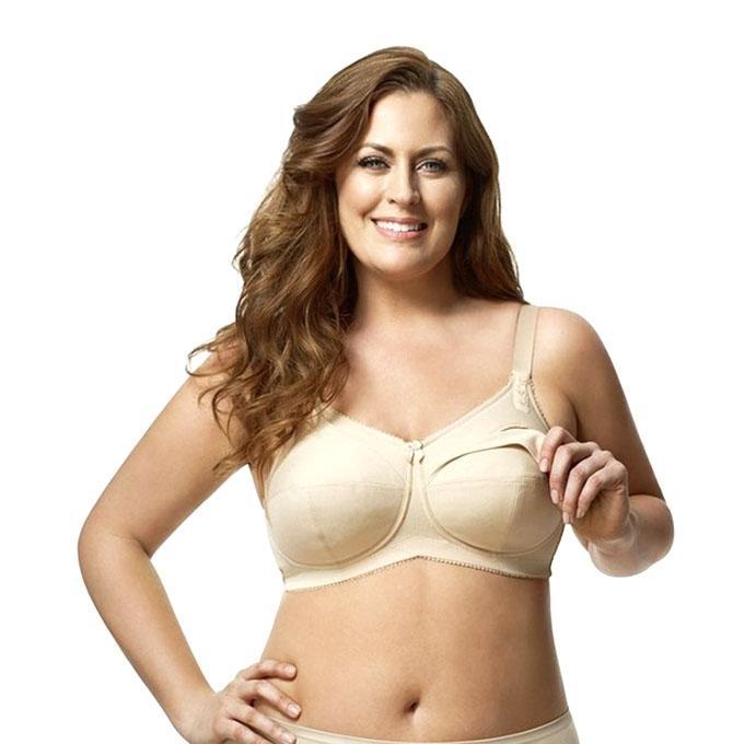 Cream Cotton Breast Feeding Bra For Women