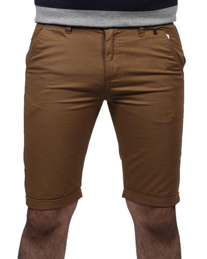 Beige Cotton Short For Men