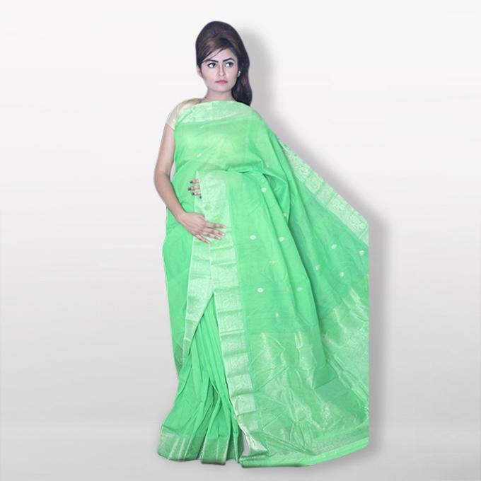 Dark Lemon Silk Katan Sharee For Women
