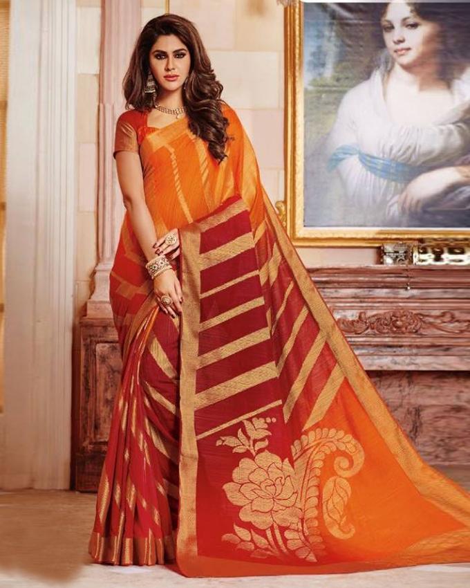 Multicolor Silk Katan Saree for Women