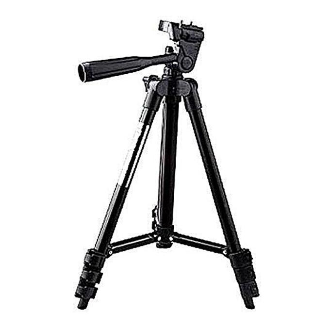 3120 Aluminum Alloy Tripod For Mobile and Camera - Black