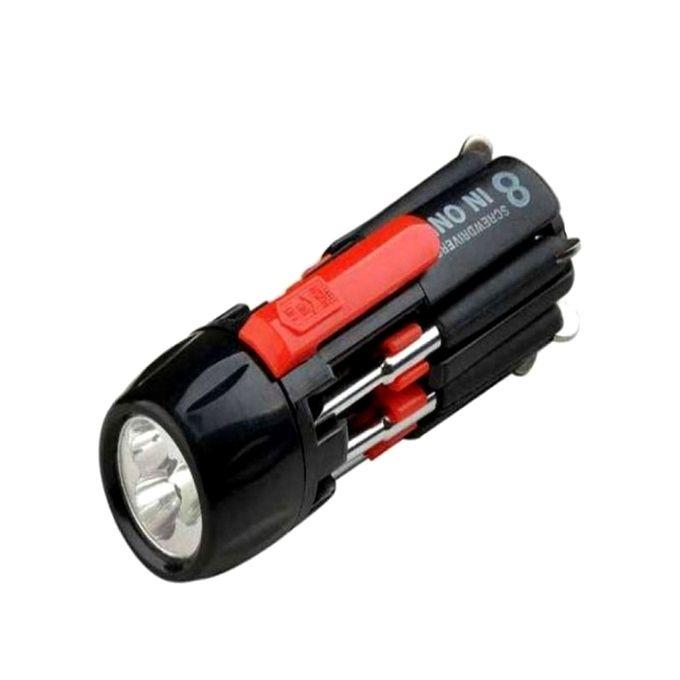 8-in-1 Portable Screwdriver With Torch Light
