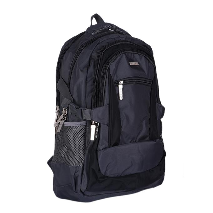 Polyester Backpack - Gray And Black