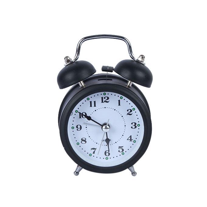 Plastic Alarm Clock - Black